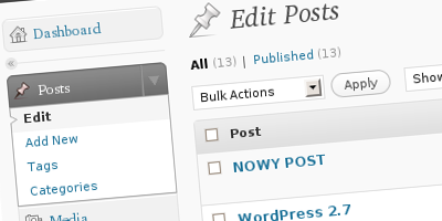 wordpress 2.7 - nowy design